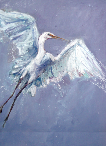 White Crane #1 by Stephen Linsteadt